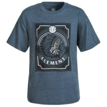 Element Chief Graphic T-Shirt - Short Sleeve (For Little and Big Boys) in Navy Heather - Closeouts
