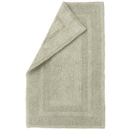 "Element Collection Reversible Bath Rug - 21x34"", Cotton in Silver - Closeouts"