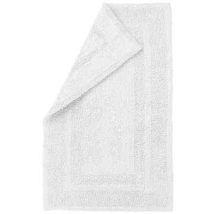 "Element Collection Reversible Bath Rug - 21x34"", Cotton in White - Closeouts"