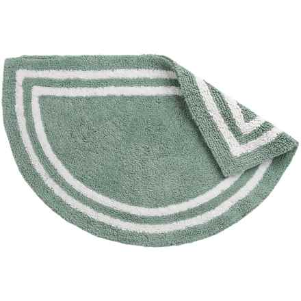 """Element Collection Reversible Slice Bath Rug - 21x34"""", Cotton in Mineral Blue/White - Closeouts"""