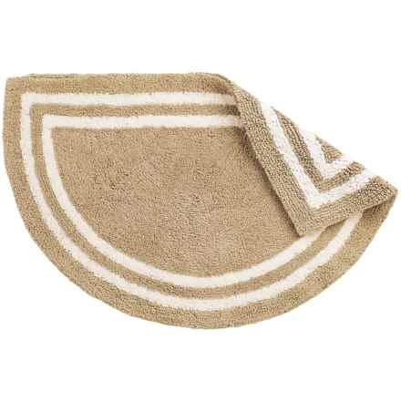 "Element Collection Reversible Slice Bath Rug - 21x34"", Cotton in Sand/White - Closeouts"