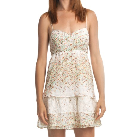 Element Corina Dress - Lace Trim, Criss-Cross Straps (For Women) in Natural