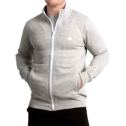Element Cornell Track Fleece Jacket (For Men) in Grey Heather - Closeouts