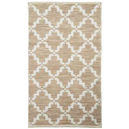 "Element Cotton Jacquard Accent Rug - 27x45"" in Sand White - Overstock"