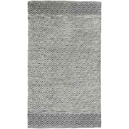 "Element Diamond Jacquard Rug - 27x45"" in Charcoal - Closeouts"