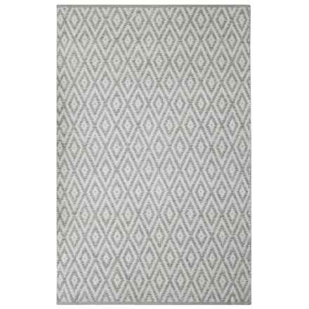 "Element Diamond Jacquard Rug - 27x45"" in Grey - Closeouts"