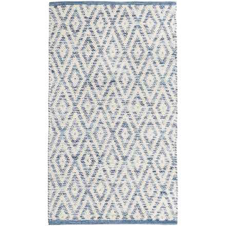 "Element Diamond Jacquard Rug - 27x45"" in Indigo - Closeouts"