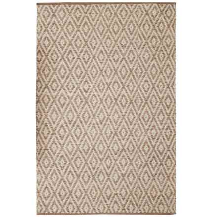 "Element Diamond Jacquard Rug - 48x72"" in Sand - Closeouts"