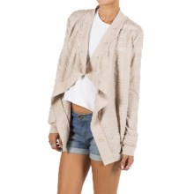 Element Eden Leanne Open Cardigan Sweater (For Women) in Clay - Closeouts