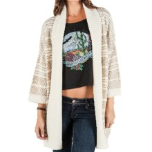Element Eden Mai Cardigan Sweater - Open Front, 3/4 Sleeve (For Women) in Natural - Closeouts