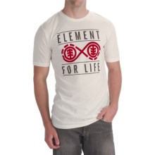 Element Forever T-Shirt - Organic Cotton Blend, Short Sleeve (For Men) in Natural - Closeouts