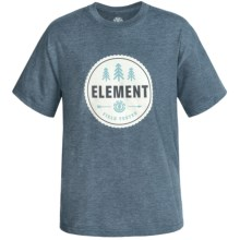 Element Graphic Print T-Shirt - Short Sleeve (For Little and Big Boys) in Navy Heather/Field Test - Closeouts