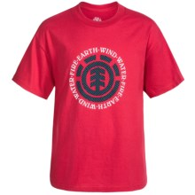 Element Graphic Print T-Shirt - Short Sleeve (For Little and Big Boys) in Red/Elemental - Closeouts