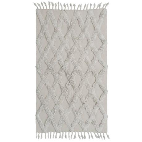 Element Grey Textured Cotton Accent Rug - 4x6' in Grey