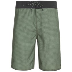 Element Grid Eco Flex Boardshorts - Recycled Materials (For Men) in Light Olive