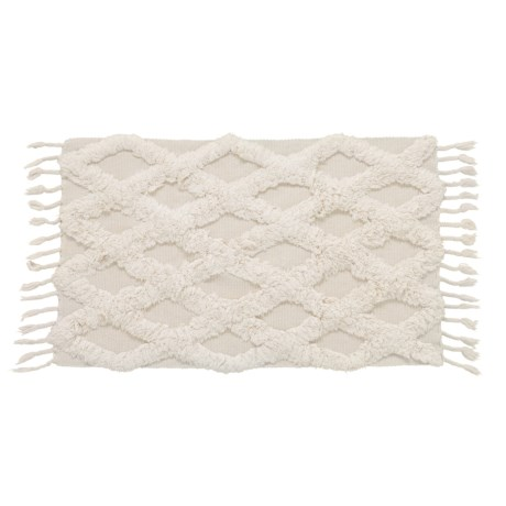 """Element Ivory Textured Cotton Accent Rug - 27x45"""" in Ivory"""