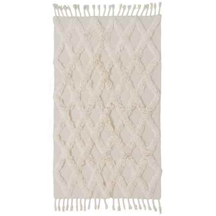 Element Ivory Textured Cotton Accent Rug - 4x6' in Ivory - Closeouts