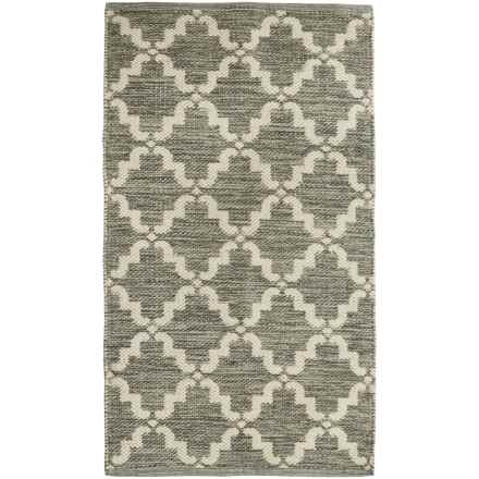 "Element Lattice Jacquard Rug - 27x45"" in Grey/Natural - Closeouts"