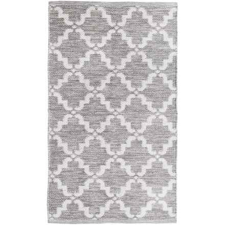 "Element Lattice Jacquard Rug - 27x45"" in Grey/White - Closeouts"