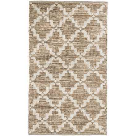 "Element Lattice Jacquard Rug - 27x45"" in Sand White - Closeouts"