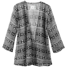 Element Marcelle Wrap - Printed Chiffon, 3/4 Sleeve (For Women) in Black - Closeouts
