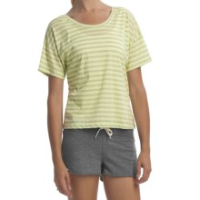 Element Naomi T-Shirt - Cotton Jersey Knit, Short Sleeve (For Women) in Citrus - Closeouts
