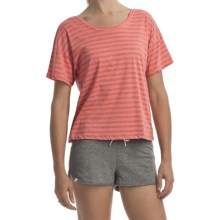 Element Naomi T-Shirt - Cotton Jersey Knit, Short Sleeve (For Women) in Papaya - Closeouts