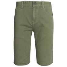Element Nelson Walkshorts - Stretch Cotton (For Men) in Light Olive - Closeouts