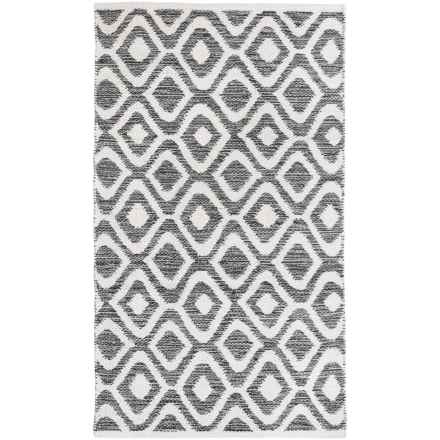 "Element New Wave Diamond Rug - 27x45"" in Charcoal - Closeouts"