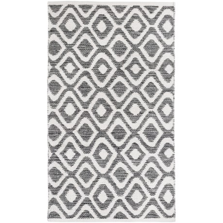 """Element New Wave Diamond Rug - 27x45"""" in Charcoal"""