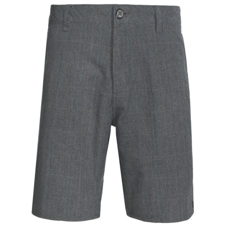Element Owens Check Shorts (For Men) in Dark Charcola Heather