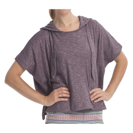 Element Regent Hooded Poncho - Cotton Jersey, Short Sleeve (For Women) in Orchid