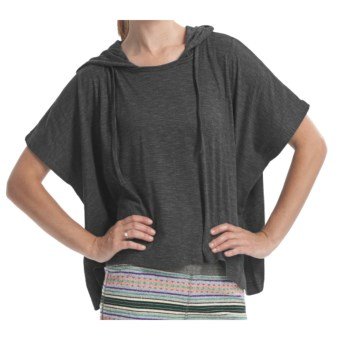 Element Regent Hooded Poncho - Cotton Jersey, Short Sleeve (For Women) in Shadow