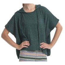 Element Regent Hooded Poncho - Cotton Jersey, Short Sleeve (For Women) in Stem - Closeouts