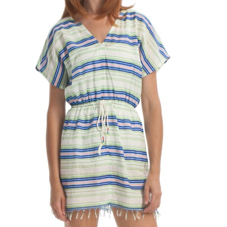 Element Robin Cover-Up Dress - Cotton, Short Sleeve (For Women) in Natural