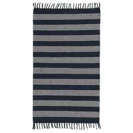 Element Stripe Cotton Accent Rug 3x5 In Black Natural Closeouts