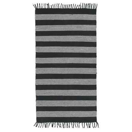 Element Stripe Cotton Accent Rug - 3x5' in Black/White - Closeouts