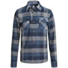 Element Tacoma Flannel Shirt - Long Sleeve (For Little and Big Boys) in Dark Denim - Closeouts