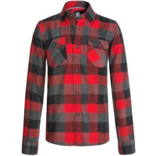 Element Tacoma Flannel Shirt - Long Sleeve (For Little and Big Boys) in Red - Closeouts