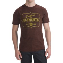 Element Tri-Blend T-Shirt - Short Sleeve (For Men) in National Park Merlot - Closeouts