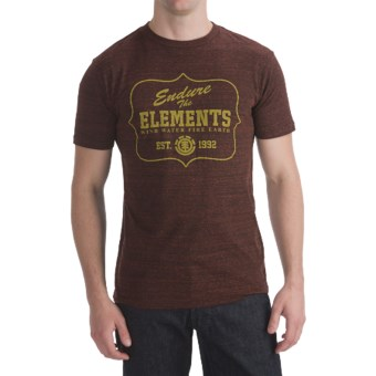 Element Tri-Blend T-Shirt - Short Sleeve (For Men) in National Park Merlot
