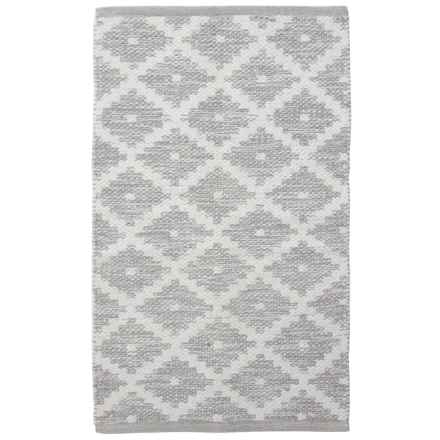 "Element Woven Cotton Accent Rug - 21x34"" in Grey - Closeouts"