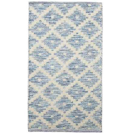 "Element Woven Cotton Accent Rug - 21x34"" in Indigo - Closeouts"