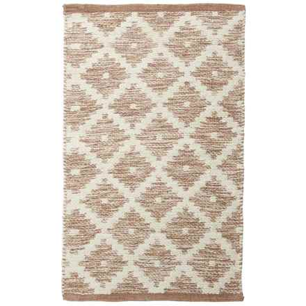 "Element Woven Cotton Accent Rug - 21x34"" in Sand - Closeouts"