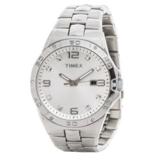 Elevated by Timex Stainless Steel Watch - Swarovski® Crystals (For Men) in Silver/Silver - Closeouts