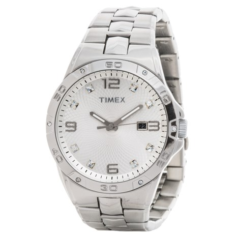 Elevated by Timex Stainless Steel Watch Swarovski(R) Crystals (For Men)