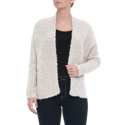 e4490f7f96b7de Clearance. Elisabetta Made in Italy Fuzzy Textured Cardigan Sweater (For  Women) in Off White -