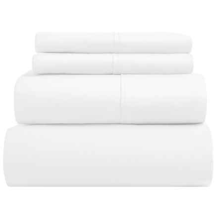 Elite Home Imperial Cotton Sheet Set - King, 400 TC, Extra Deep Pockets in White - Closeouts