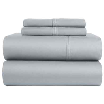 Elite Home Kingston Cotton Sheet Set - Queen, 420 TC in Grey - Closeouts