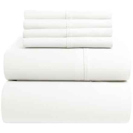 Elite Home Regency Cotton Sateen Sheet Set - Queen, 400 TC in White - Closeouts